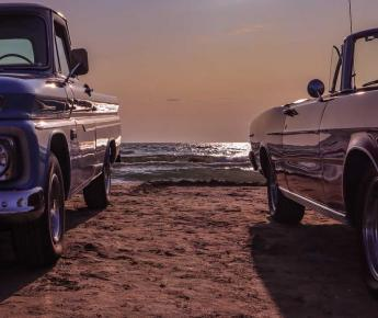 Old Cars on Beach